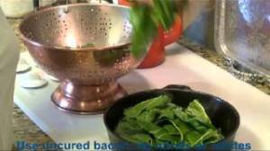 Organic Home-Grown Chard & Healthy Bacon