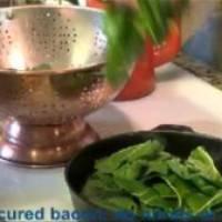 Organic Home-Grown Chard & Healthy Bacon Video