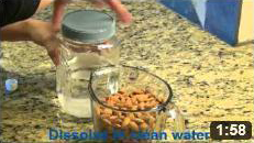 Soaking Raw Almonds & Dehydrating