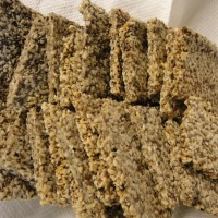 Sprouted Seed Crackers; Paleo, Gluten Free, Low carb