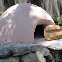 Adding Plaster Layer on Cob Pizza Oven