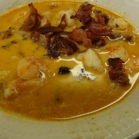 Lobster Shrimp Andouille & Bacon Bisque