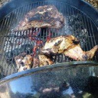 Almond Wood, Grilled Tri-tip & Chicken